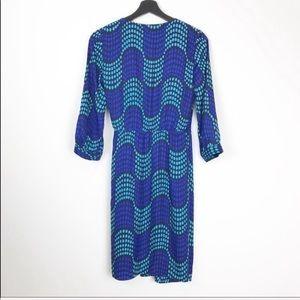 Boden Dresses - Boden Blue Aqua Polka Dot Wrap Dress 4 A17